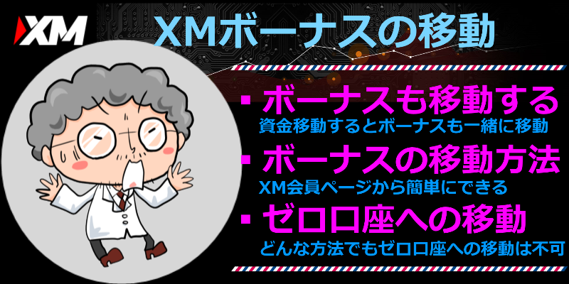 xm ボーナス 移動