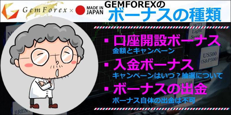 gemforex ボーナス