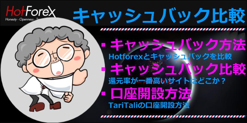 hotforex キャッシュバック