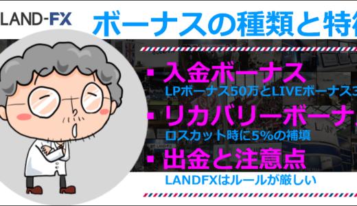 LANDFXのボーナス 入金ボーナスとリカバリーボーナス
